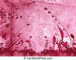 Pink Background - Pink Foliage Background