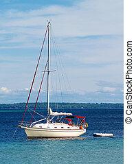 拋錨, 帆船, 港口