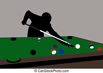 pool - billiard-player silhouette