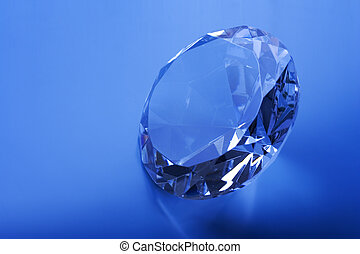 Sparkle - Diamond on a blue background