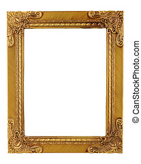 gold frame - gold ornate frame and border