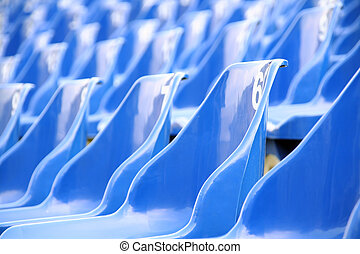 Blue seats in arena