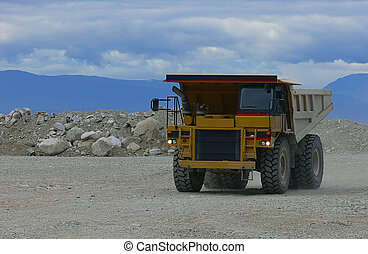 Mining truck - A British Columbia gravel mine truck at work...