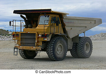 Mining truck - A British Columbia mining truck at work