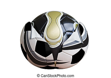 Reborn - New design football emerging from old Clipping path...