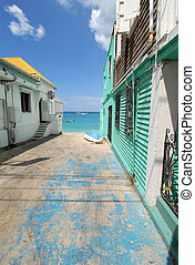 St Martin Alleyway - An Alleyway in St Martin, French West...