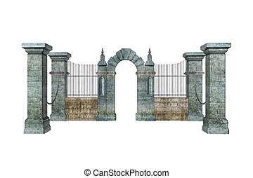 Portcullis - Illustrated gate