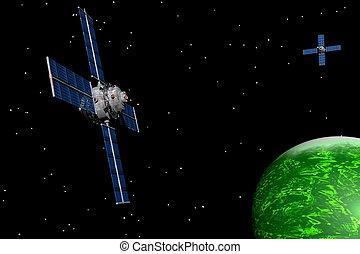 Planetarny, Satelici