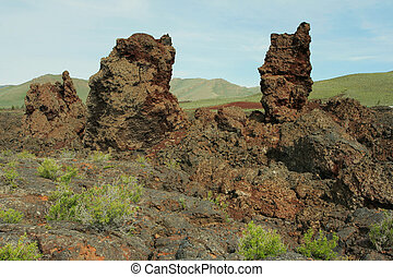 lava pillars; Craters of the Moon National Monument; Idaho