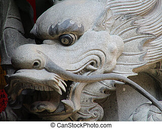 Real Chinese Dragon in a temple in Quanzhou, China