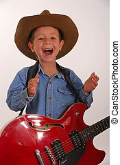 Lonesome Cowboy 12 - Young boy playing guitar