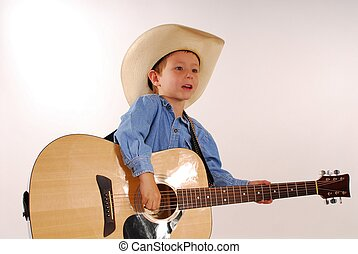 Lonesome Cowboy 13 - Young boy playing guitar
