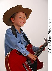 Lonesome Cowboy 17 - Young boy playing guitar