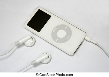 Ipod MP3 Player - White Ipod Nano MP3 player.