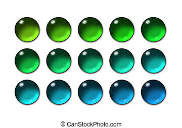 Sphere glass button 03 - Bunch of colorful web buttons
