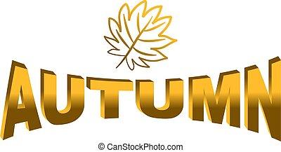 autumn icon isolated on white