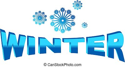 winter icon isolated on white