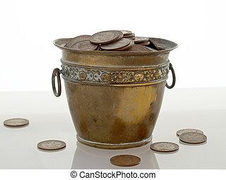 Pot of Money - Brass pot of money