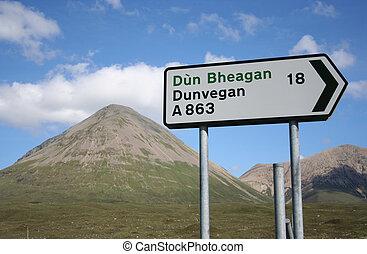 Isle of Skye roadsign