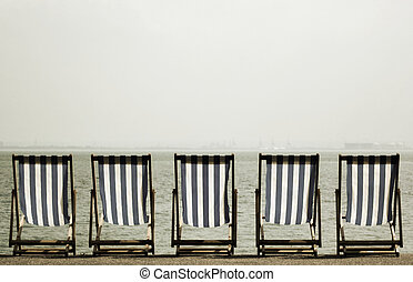 Deckchairs, Southend, England