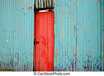 Request: Red Door - Image submitted for Request of rustic,...