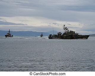 warships off Scottish coast