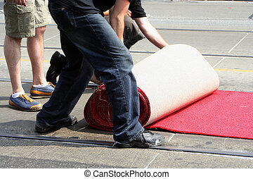 red carpet - rolling out the red carpet