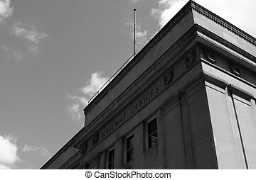 Railway Offices - The west corner of Union Station in...