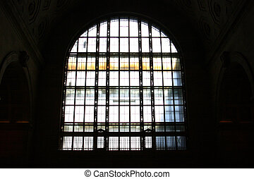 Window - a window kind of at Union Station in Toronto...