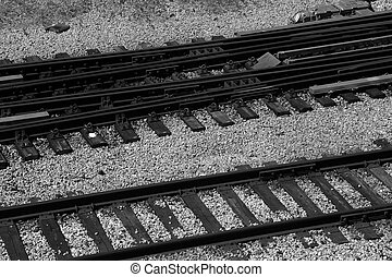 The Railway - Train tracks leading to Union Station in...