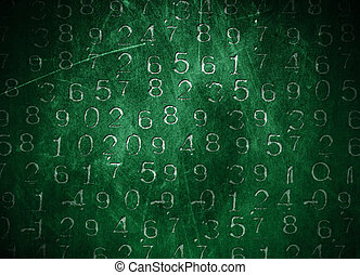Coded Numbers - An abastract background with coded numbers