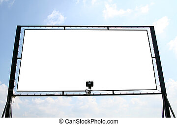 White billboard - Billboard with isolated interior...