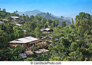 Northern Thai village - Rural village in Chiang Mai,...