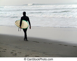 Never Too Cold to Surf - Its never too cold to go surfing in...