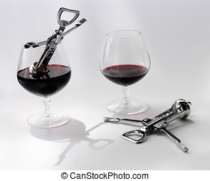 Two alcoholics - Allegory. Two alcoholics in danger