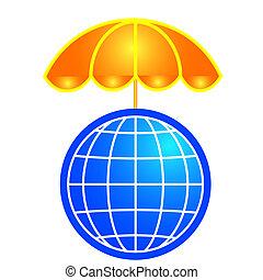 Global shelter illustration