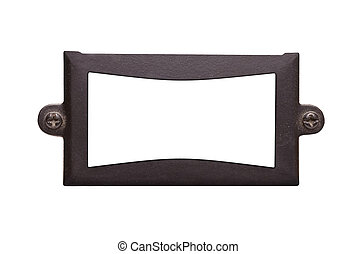 Metal Frame - A metal plate on a white background