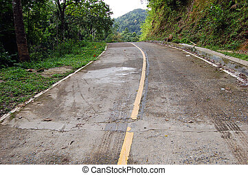 Lonely road - Backcountry road in northernThailand