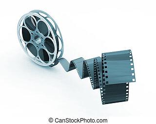 Film reel - 3D render of a movie film reel
