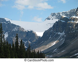 Banff Icefield - large icefield spilling down a mountain...