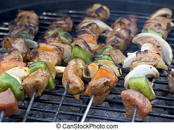bbq - meat on a barbeque