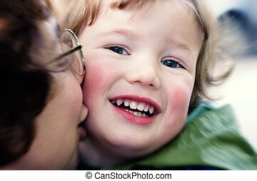 Happiness of the child and mother