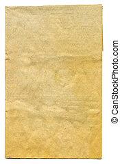 Grunge paper on white