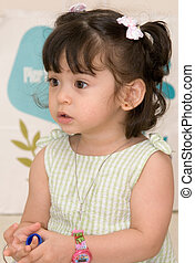 Cute pig tails - cute little girl with pig tails