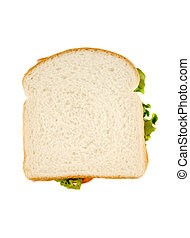 isolated sandwich - white bread isolated sandwich