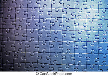 Jigsaw Puzzle - Pieces of a jigsaw puzzle mouldy and dirty...
