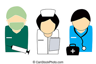 Healthcare People - Doctors and Nurse Illustration