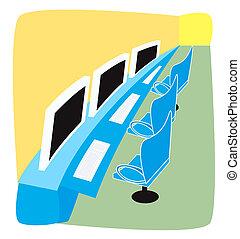 Computer Lab Illustration