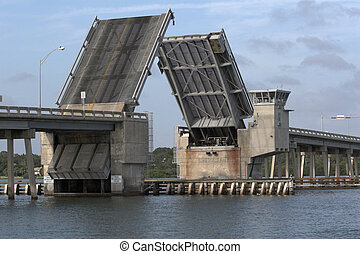 draw bridge - Draw bridge at gulf of mexico in florida...