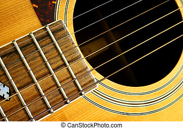Guitar - Detail of a guitar